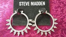 NWT - Steve Madden Tribal Rhinestone Hoop Earrings