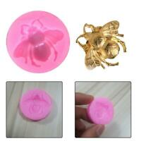 3D Bee Shape Silicone Fondant Cake Mold Chocolate Baking Decor M Tools Soap O2X2