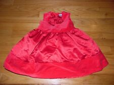 Carter's Infant girl's Velvet dress Sz 24 months Velvet and Satin sleeveless EXC