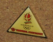 D12 PIN OLYMPIC OLYMPIQUE GAME SPORT ALBERTVILLE 92 RINGS MONDIAL