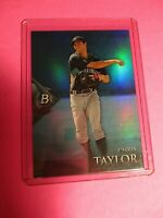 2014 Bowman Platinum Blue Refractor BPCP63 Chris Taylor 134/199 Mariners/Dodgers