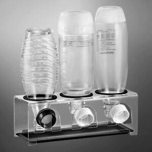 ecooe Abtropfgestell Flaschenhalter mit Abtropfwanne SodaStream Emil 3 Flaschen