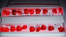 VALENTINES DAY HEART SHAPED STRING LIGHTS RED LIGHTS 20 CT..VALENTINE DECORATION