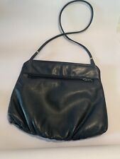 50's Or 60' Vintage Dark Blue Hand Bag Leather . Great Condition
