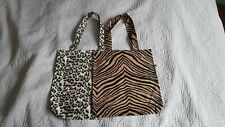 Oasis Carry Bags X2.Animal Print.Darker One With Small Defect.