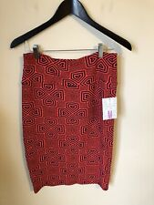 NWT LulaRoe Cassie skirt size medium 26 inches long blue/ red