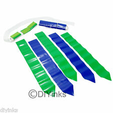 Blue and Green Football Flag Set - 12 Belts with 36 Flags (18 per color)