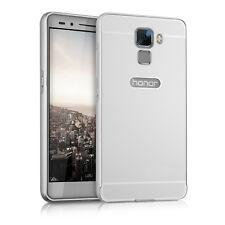 kwmobile Aluminium Bumper für Huawei Honor 7 Silber Metall Case Cover Schutz