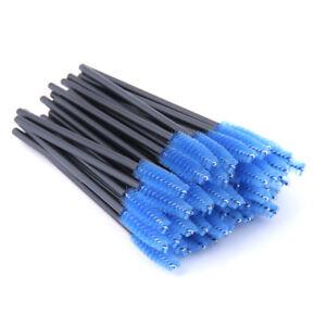 50Pcs Disposable Mascara Wands Makeup Brush Eyelash Brushes Spoolie Applicator