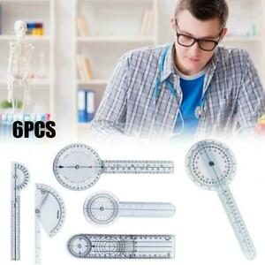 6pcs/set Multi-Ruler Spinal Finger Goniometer Angle Spinal New Ruler I1P7
