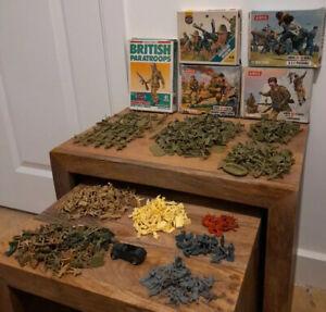 Airfix HO-OO 1/72 Scale Vintage WW1 & WW2 Plastic Toy Soldiers Huge Joblot