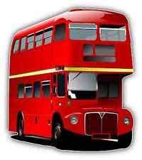 """Double Decker Bus London Tourist Car Bumper Window Notebook Sticker Decal 4""""X5"""""""