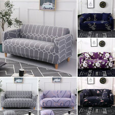 US Decorative Stretch Sofa Cover 1 2 3 4 Seater Couch Elastic Printing Slipcover