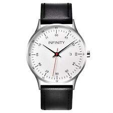 Infinity COM 02 Silver & Black Men's Minimalist Watch - Men Designer Watch