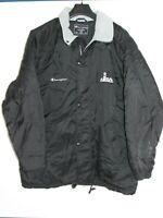 vtg 90s 1990s  Champion  black Long overcoat Coat jacket XL