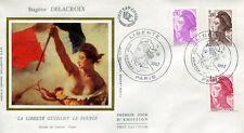 FRANCE 1982 - FDC 2242 2243 2244 1 LIBERTE DE DELACROIX - pn