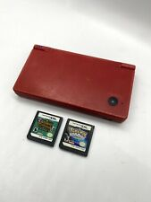 Nintendo DSi Red with Animal Crossing And Pokemon (no Charger)