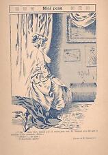 ▬► Original Print Humour Curiosa 1919 Dessin H. Gerbault Nini pose