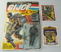 1984 GI Joe Cobra Ninja Firefly v1 Figure Full File Card Back & Bubble *Complete