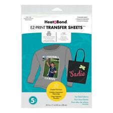 Heatnbond EZ Transfer Sheet 5 Pack For DARK Fabrics . Easily Personalise Fabrics