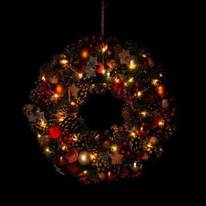 Adventskranz, Türkranz mit LED Lichterkette & Timer - Deko Weihnachten Gold 496
