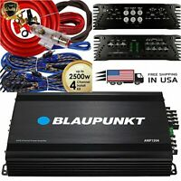 Blaupunkt AMP1504 Car Audio 4-Channel Amplifier 1500 Watts + 4 Channel 2500W Red