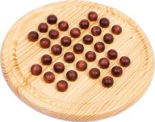 Solitär aus Holz,Solitaire, 33 Kugeln, Brettspiel für 1 Spieler