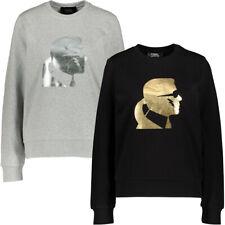KARL LAGERFELD Women's Foil Silhouette Logo Sweatshirt Ladies Top RRP £150