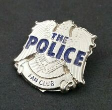 More details for the police rare vtg fan club prop badge sting stewart copeland andy summers