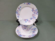 "Royal Albert Art Deco Crown China Trio- "" Blackthorn"" Reg Design 1934"