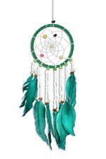 Traumfänger - Dreamcatcher - Grün Weiße Perlen  ca. 35cm x 9cm Kinder Auto