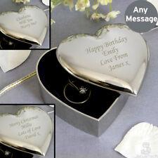 Personalised Trinket Box. Small Engraved Jewellery Box. Birthday Engagement Gift