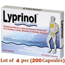 4 x Lyprinol New Zealand Green Lipped Mussel Extract - total 200 capsules!!!