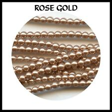 "5810/3/RG**""CRYSTAL PEARLS"" SWAROVSKI RONDES 3mm ROSE GOLD*x40"