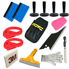 Professional Car Wrap Vinyl Applicator Tool Kit Squeegee Bag Razor Magnet Cutter