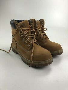 """Timberland Pro Direct Attach 6"""" Brown Leather Waterproof Women's Work Boots Sz 6"""