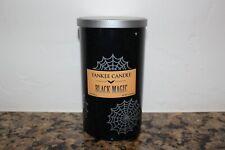 Yankee Candle Black Magic 12 oz Medium Perfect Pillar Jar Candle ~Halloween~