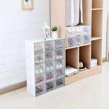 Shoe Storage 6Pcs Transparent Plastic Drawers Box Organizer Shoes Cases Boxes
