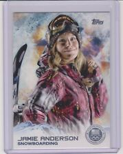 2014 TOPPS OLYMPIC JAMIE ANDERSON SILVER CARD #4 ~ SNOWBOARDING ~ QTY