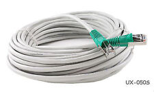 50ft CAT5E Shielded Cross-Over Ethernet FTP Network Gray Patch Cable, UX-050S