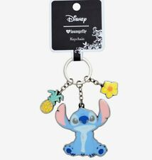 Loungefly x Disney Lilo & Stitch Pineapple Floral Metal Keychain