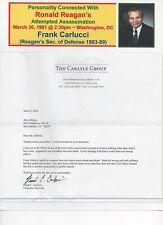 "[Ronald Reagan] Frank Carlucci ~Reagan's Sec. of Defense ""..no lasting effects"""