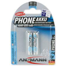 1x2 AAA ANSMANN maxE DECT Phone Akku Micro NiMH 800 mAh - 1,2 Volt Rechargeable
