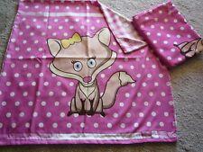 Kinder Bettwäsche Tier Motiv 2-teilig 135x200+80x80 Polyester -neu