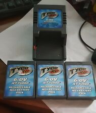 3 TYCO R/C 6.0V NiCd Rechargeable Battery Packs and Charger!
