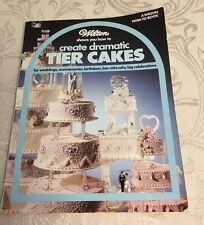 Excellent Wilton WEDDING Cake Decorating Book/DRAMATIC TIER CAKES 1985 copyright