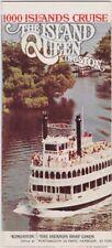 1970's Island Queen 1000 Island Cruises Kingston Brochure