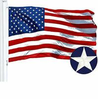 "G128 – American Flag US USA | 12""x18"" Small | Embroidered Stars, Sewn Stripes"