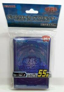 Konami Japan Yu-Gi-Oh Blue Ver.3 Design Card Sleeve 55pcs 63mm x 90mm