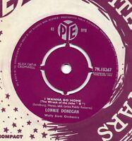 LONNIE DONEGAN i wanna go home 1960 UK PYE 45